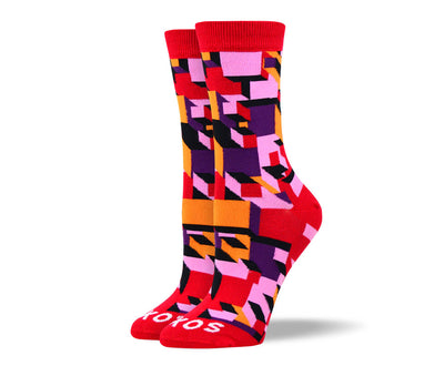 Women's Awesome Red 3D Art Socks