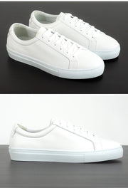 Mens White Leather Sneakers