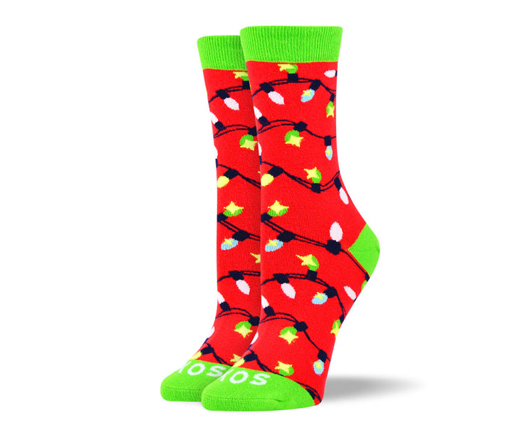Women's Christmas Lights Sock