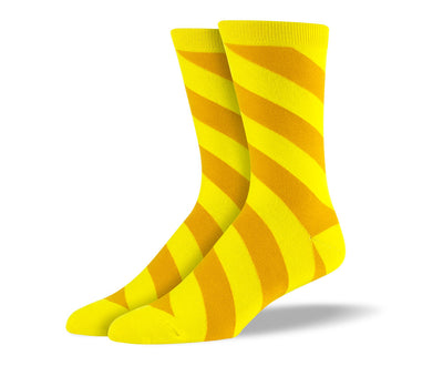 Men's Yellow Diagonal Stripes Socks