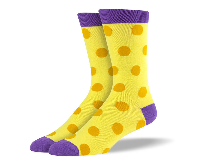 Men's Yellow Big Dots Socks