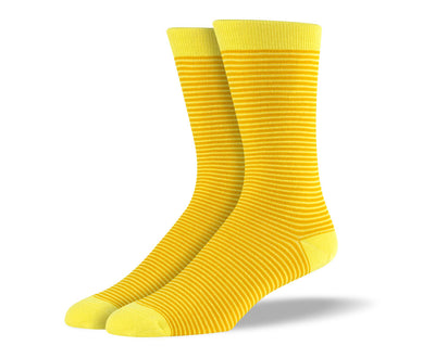 Men's Yellow Thin Stripes Socks