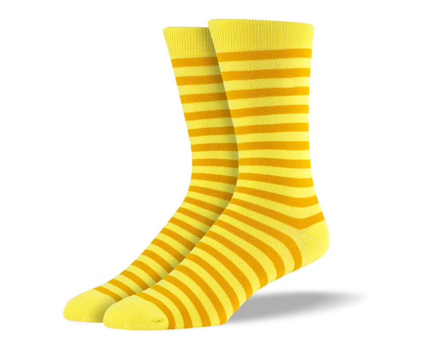 Men's Yellow Stripes Socks