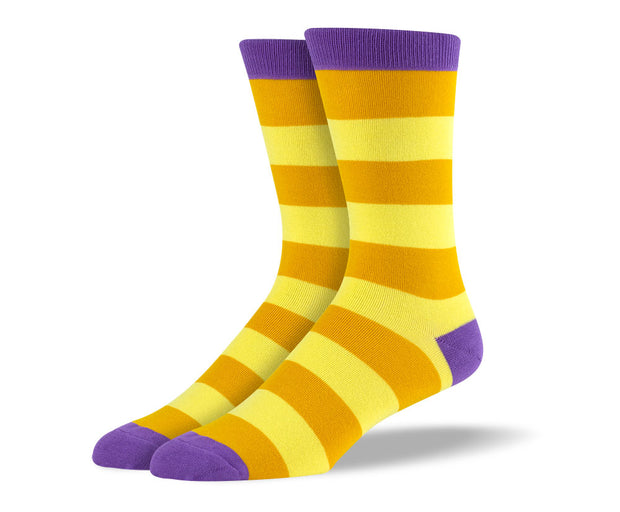 Men's Yellow Thick Stripes Socks