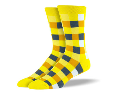 Men's Yellow Square Socks