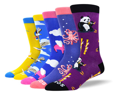 Men's Crazy Animal Sock Bundle