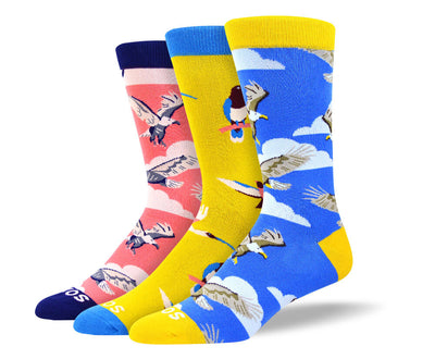 Men's Cool Bird Sock Bundle - 3 Pair