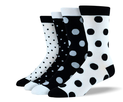 Men's Black & White Polka Dot Sock Bundle
