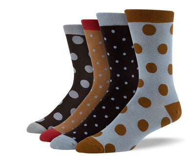 Men's Brown Polka Dots Sock Bundle