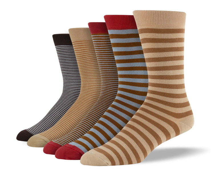 Men's Brown Stripes Sock Bundle