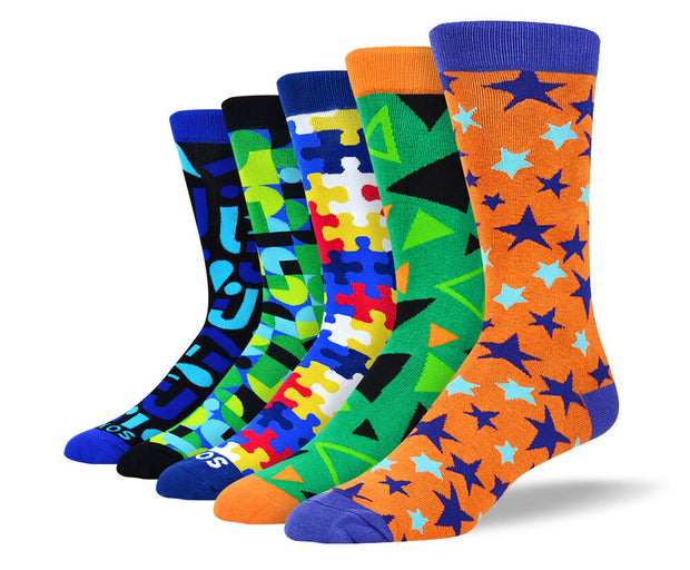 Men's Funky Colorful Socks Bundle