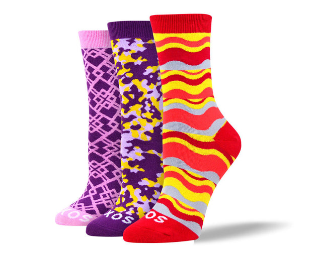 Women's Crazy Fun Sock Bundle - 3 Pair