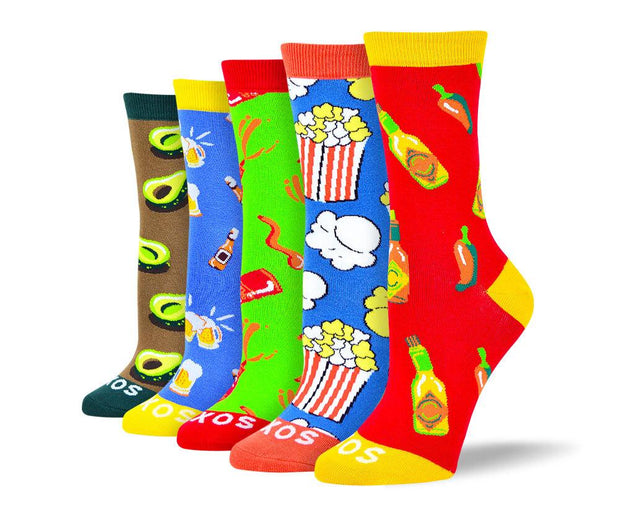 Women's Trendy Food Sock Bundle