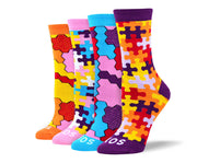 Women's Unique Puzzle Sock Bundle - 4 Pair