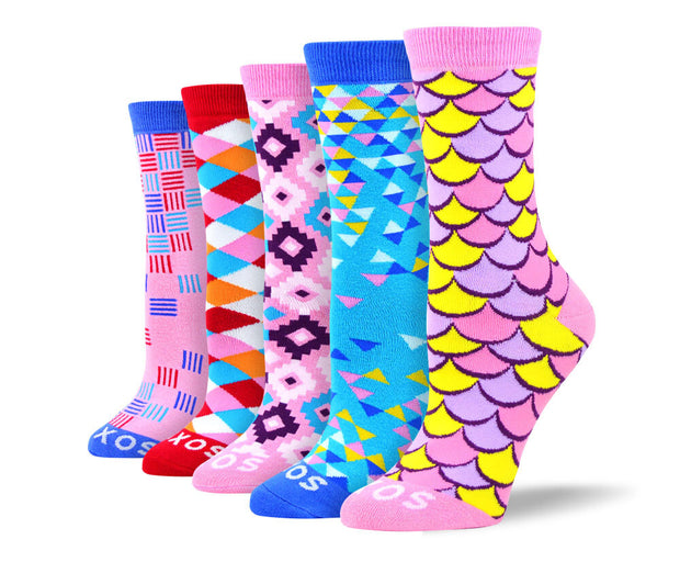 Women's Funny Colorful Sock Bundle