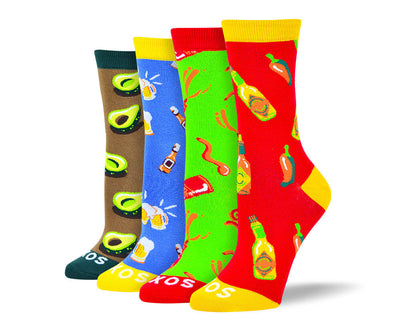 Women's Cool Food Sock Bundle - 4 Pair