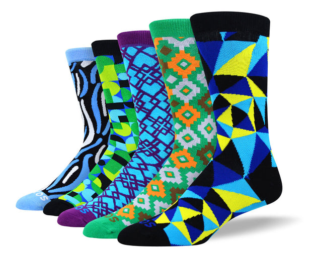 Men's Cool Pattern Sock Bundle