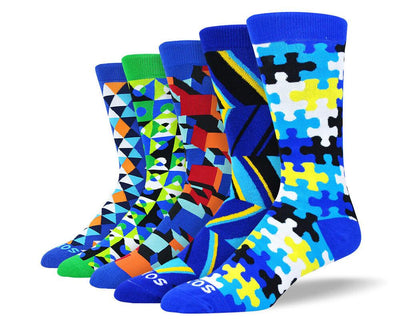 Men's Colorful Fun Socks Bundle