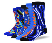 Men's Funny Blue Sock Bundle