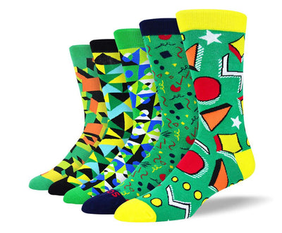 Men's Colorful Green Sock Bundle