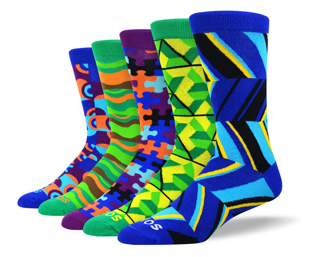 Men's Crazy Art Sock Bundle