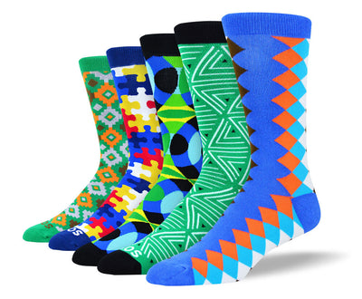 Men's Funny Colorful Sock Bundle