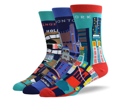 Men's Fancy City Sock Bundle - 3 Pair