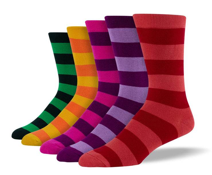 Men's Silly Thick Stripe Sock Bundle