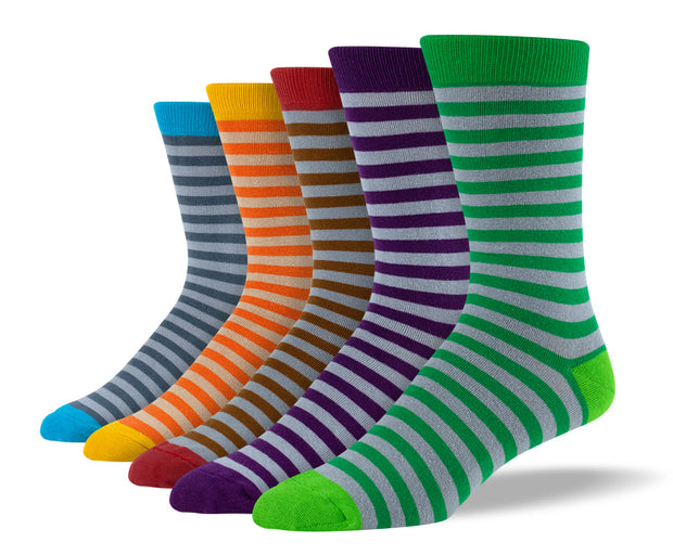 Men's Unique Stripe Sock Bundle