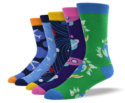Men's Earth & Space Sock Bundle
