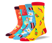 Men's Unique Food Sock Bundle - 4 Pair