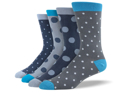 Men's Grey Polka Dot Sock Bundle