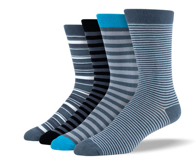 Men's Grey Thin Stripe Sock Bundle