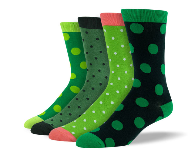 Men's Green Polka Dot Sock Bundle