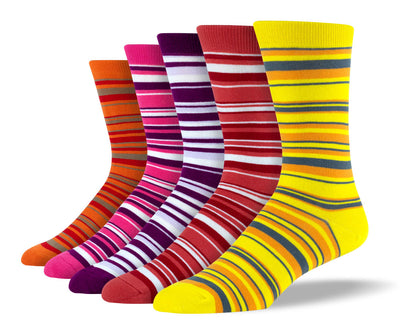 Men's Cool Thin Stripe Sock Bundle