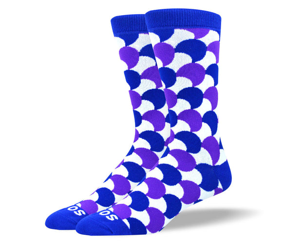Men's Fun Purple Moon Dress Socks