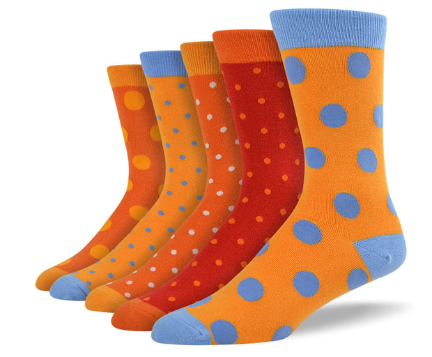 Men's Orange Polka Dot Sock Bundle