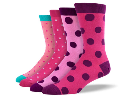 Men's Pink Polka Dot Sock Bundle