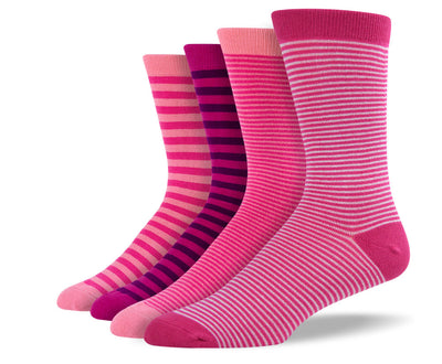 Men's Pink Thin Stripe Sock Bundle