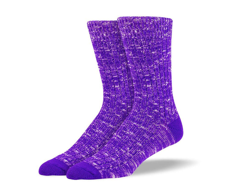 Men's Purple Casual Crew Socks
