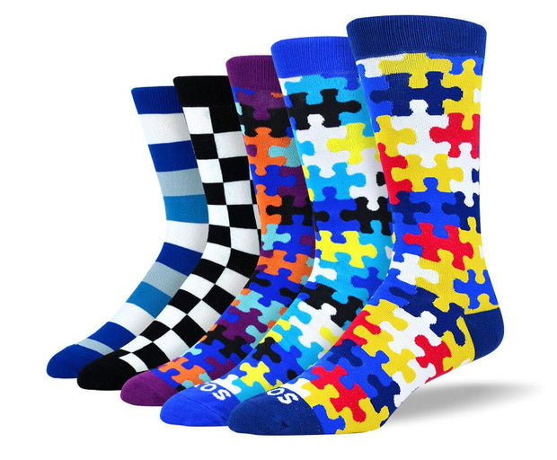 Men's Colorful Mixed Dress Sock Bundle