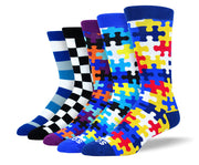 Men's Funny Mixed Dress Sock Bundle