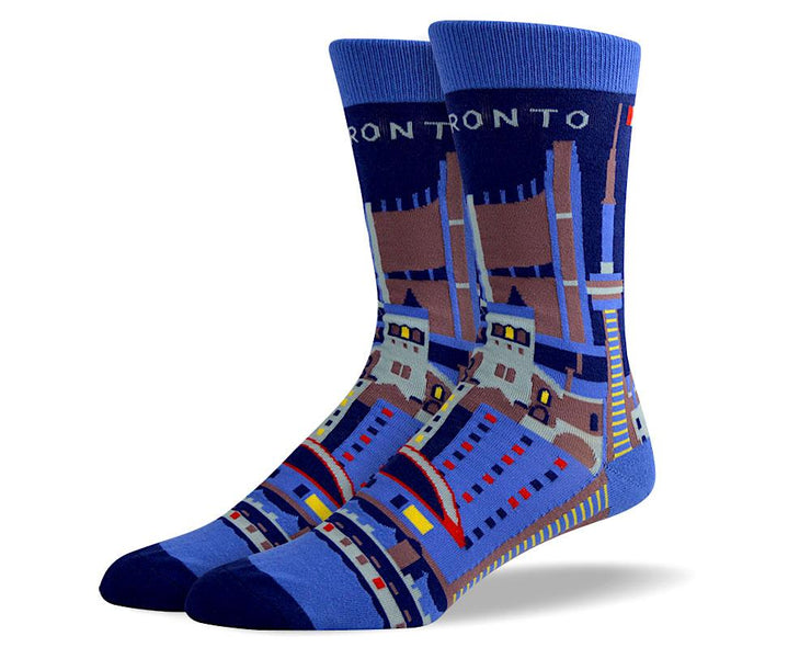 Men's Colorful Toronto Dress Socks