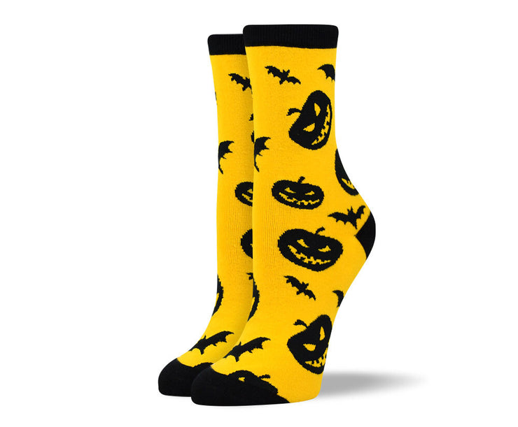 Women's Pumpkin & Bats Socks