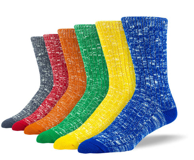 Men's Fun Casual Sock Bundle - 6 Pair