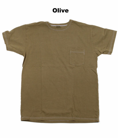 3sixteen Garment-Dyed Pocket T-Shirts - Short-Sleeve