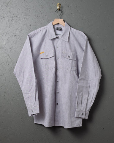 Prison Blues LS Hickory Stripe Work Shirt
