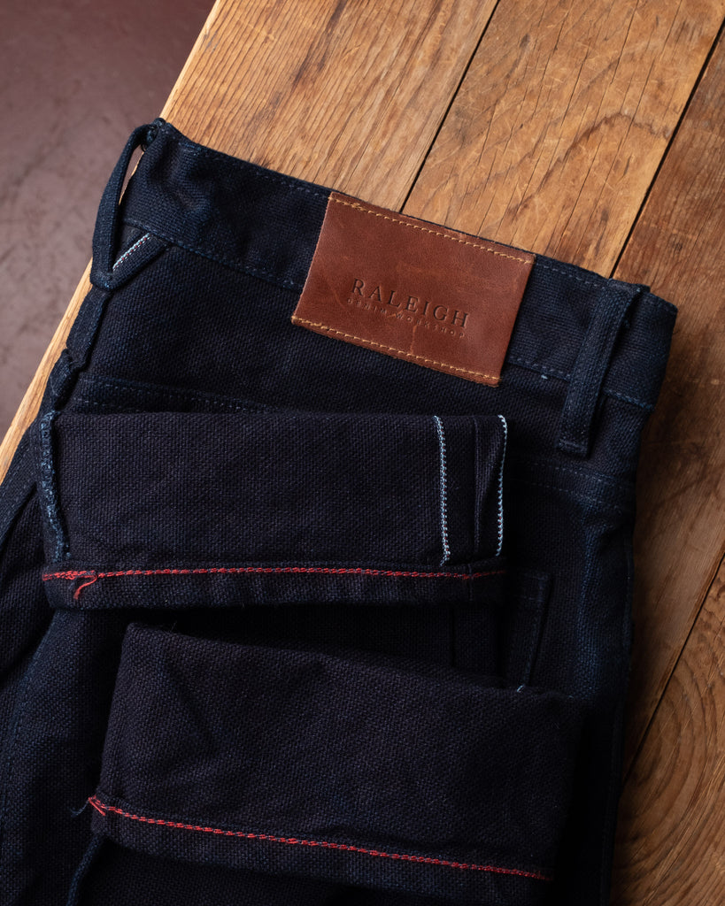 Raleigh Graham Rinsed Canvas Jeans