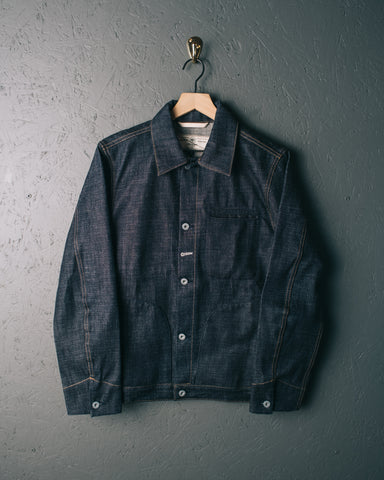 Rogue Territory Cryptic Denim Supply Jacket - Indigo Selvedge