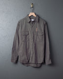Tellason Clampdown Shirt -Green Striped